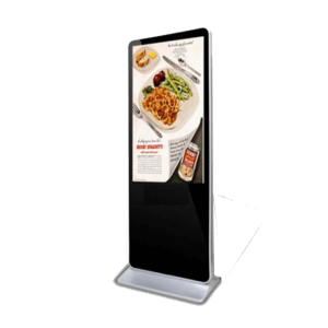 Iphone Style Free Standing Digital Signage Advertising Display LCD